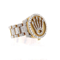 Rolex Logo Men's 2.00 Cts Diamond Ring By Fehu Jewel