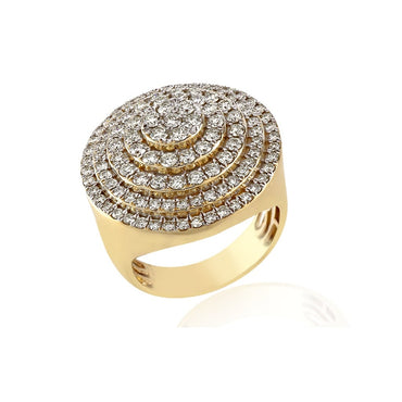 2.53 Cts. Diamond Cluster Men's Round Ring By Fehu Jewel