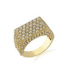4.38Cts. Round Cut Diamond Men's Modern Cluster Ring By Fehu Jewel