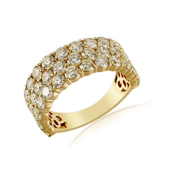 4.99 Cts. Round Diamond Men's Ring By Fehu Jewel