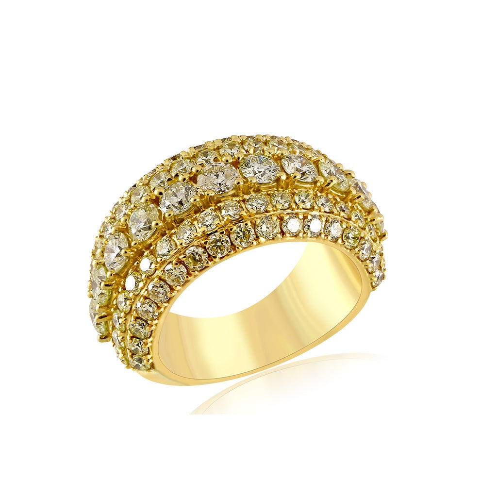 4.62 Cts. Diamonds Gold  Men's Ring By Fehu Jewel