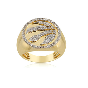 0.74 Cts. Natural Diamonds Gold  Men's Ring By Fehu Jewel