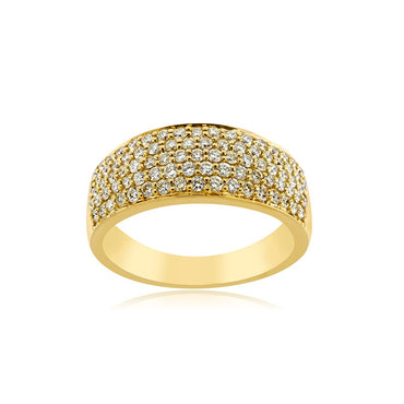 Yellow Gold 1.49 Ct.  Natural Diamond Ring