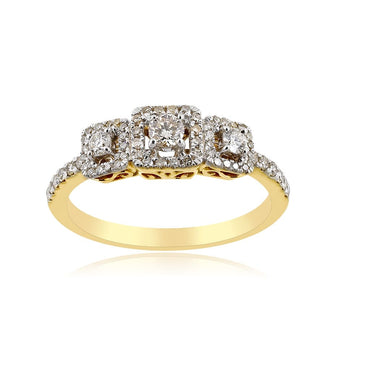 1/2 Ct. Wt. Natural Diamond  Engagement Ring by Fehu Jewel