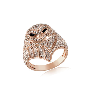 Rose Gold 3D OWL Hip Hop Mens Fashion Ring