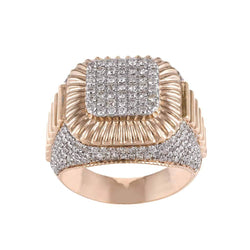 rose gold Hip Hop Diamond Ring for Men