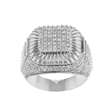 white gold Hip Hop Diamond Ring for Men
