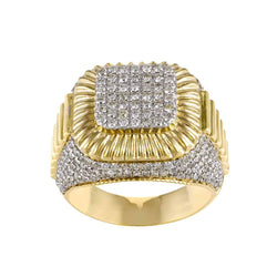 yellow gold Hip Hop Diamond Ring for Men
