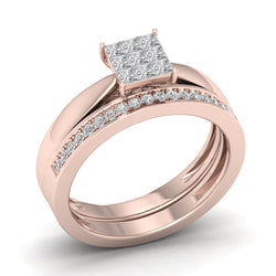 Fehu Jewel Bridal Ring Set Engagement Ring With 0.40ct Natural Diamonds.