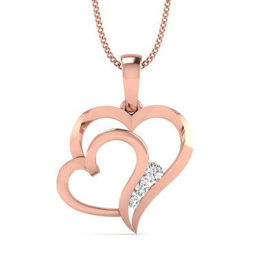 Rose Gold Dual Heart Pendant