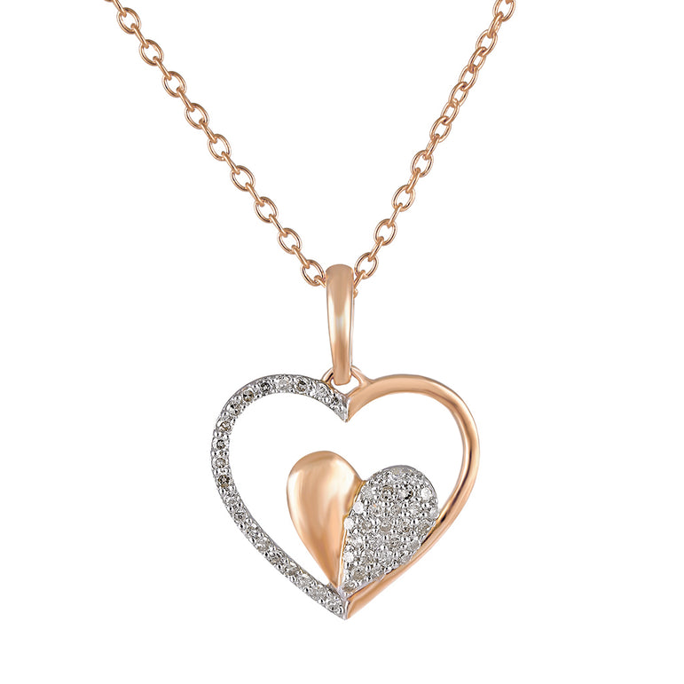 14.8mm 14k Gold Polished Cut-out Heart Pendant