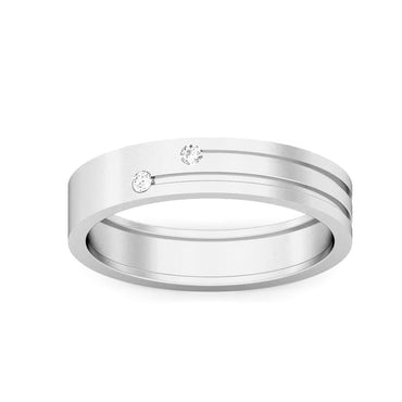 Two Stone Diamond Men's Wedding Band