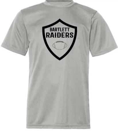 ADULT Grey Performance Football Shield T-Shirt