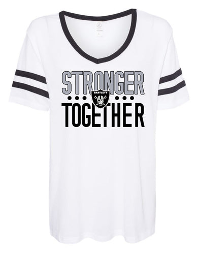 Stronger Together Women's Vintage Stripe Tee