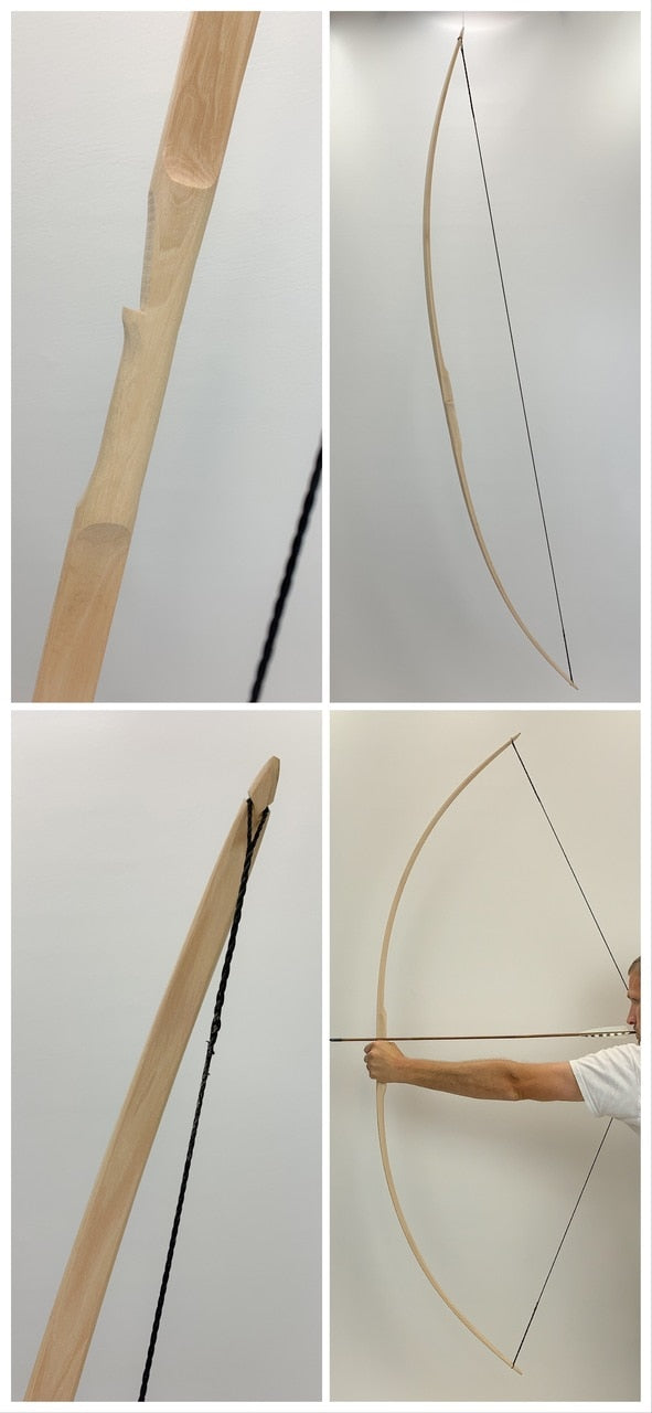 U Finish Classic Hickory Longbow - 72