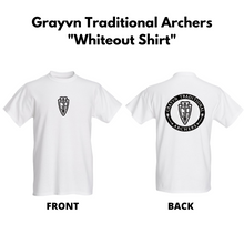 Load image into Gallery viewer, Grayvn Traditional Archers - Whiteout Shirt