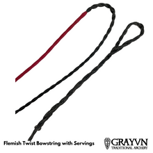 Load image into Gallery viewer, Flemish Twist Traditional Bowstring with Center Serving