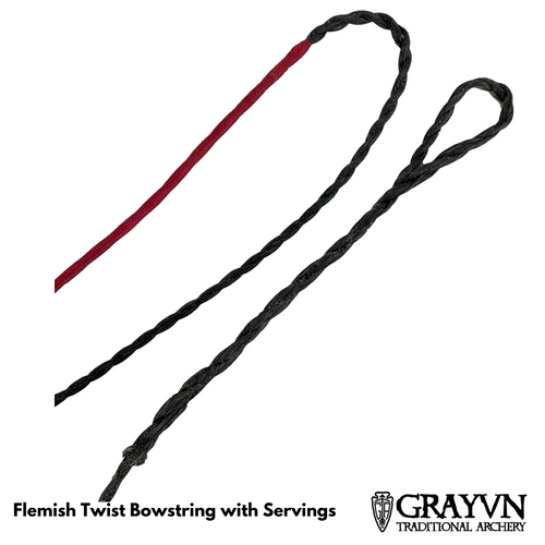 Flemish Twist Traditional Bowstring with Center Serving