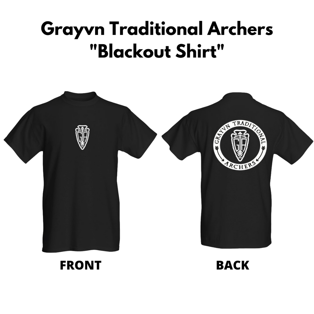 Grayvn Traditional Archers - Blackout Shirt