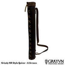Load image into Gallery viewer, Grizzly Hill Style Quiver - 6 arrow capacity