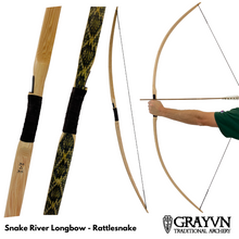 Load image into Gallery viewer, Snake River Longbow - Rattlesnake Skin