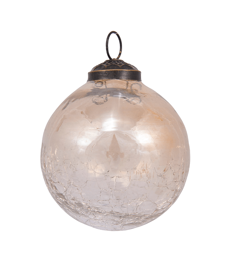 Crackled Glass Ornament