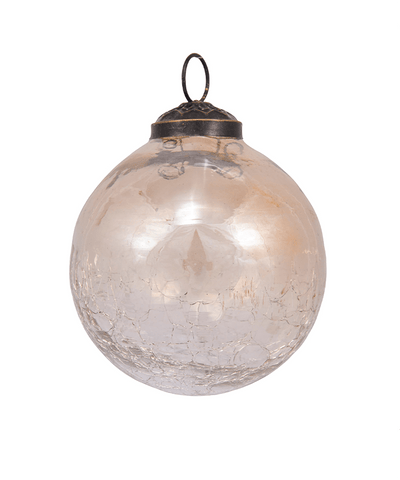 3 in Crackled Glass Bauble