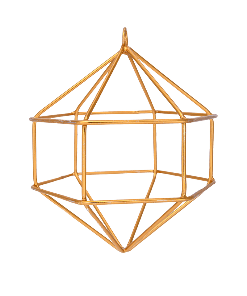 Geometric Gold Ornament