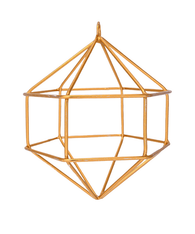 4 in Gold Geometric Ornament