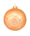 4 in Gold Bauble / Sparkly Swirl