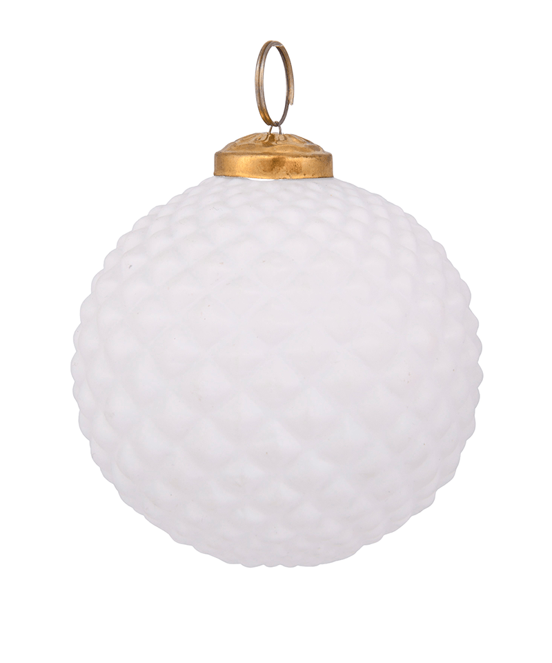Geometric White Ornament