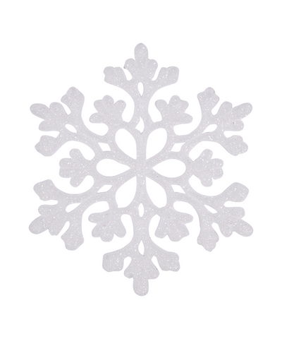 4 in Glitter Snowflake Ornament / Sparkly