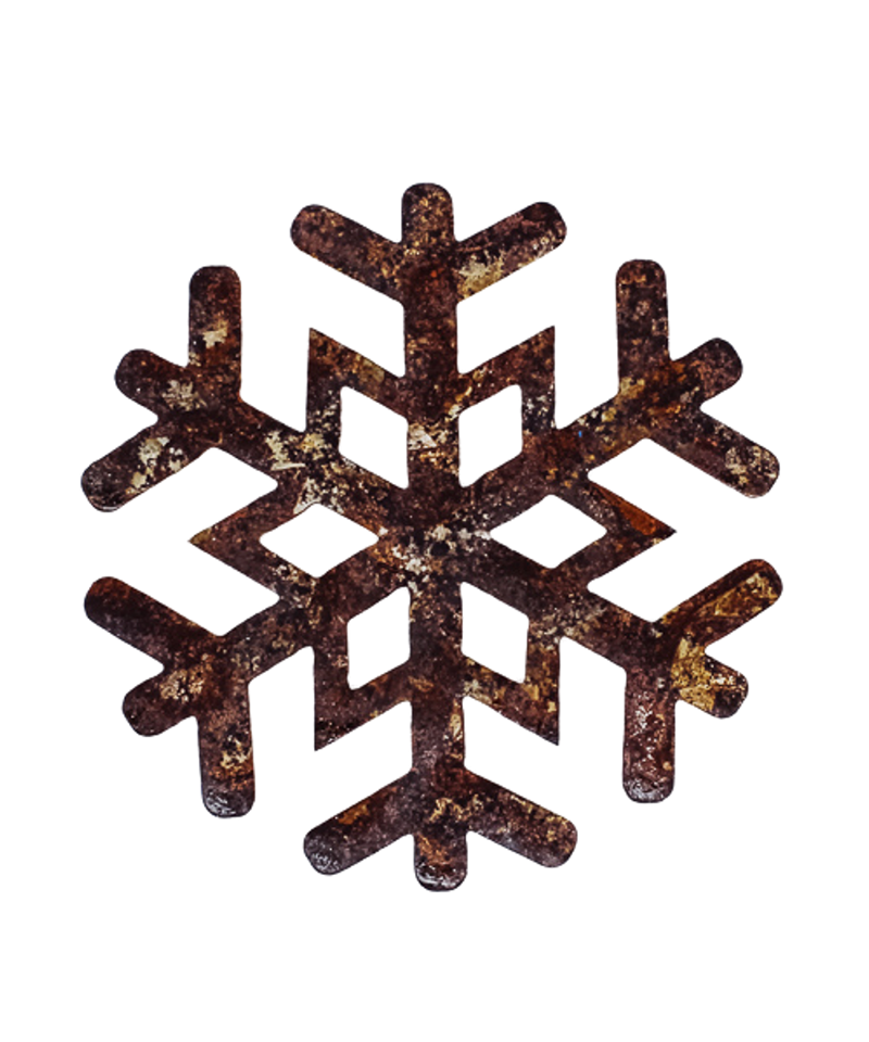 Copper Snowflake Ornament