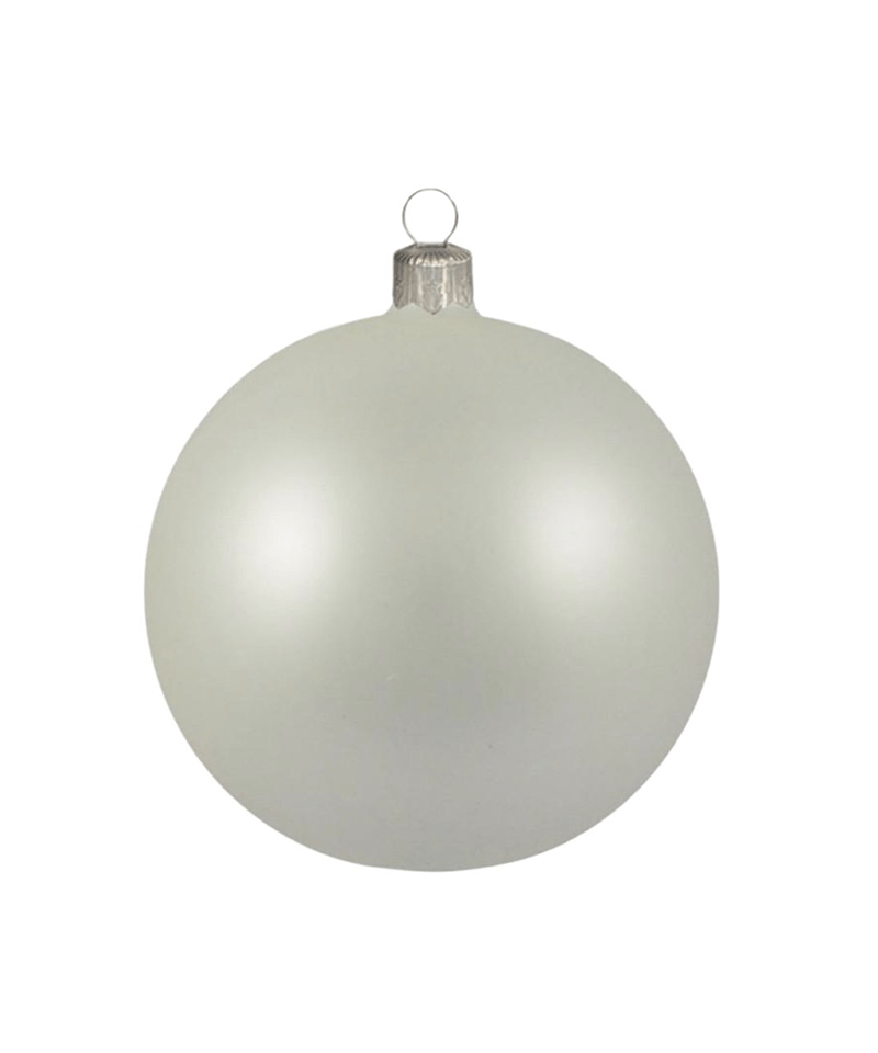 Mouth Blown White Ornament
