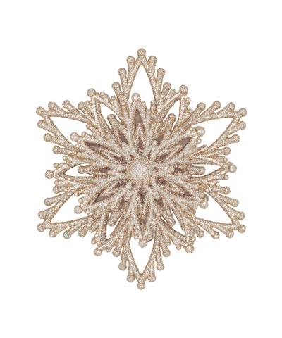 4 in Glitter Snowflake Ornament / Gold