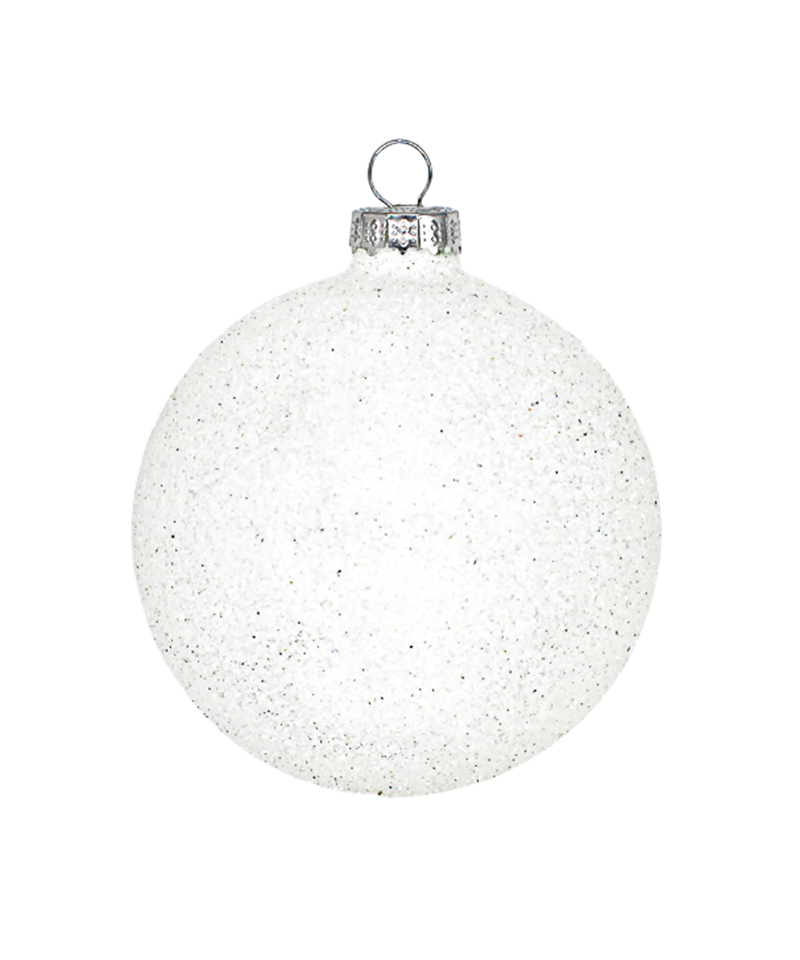 White Glitter Ornament