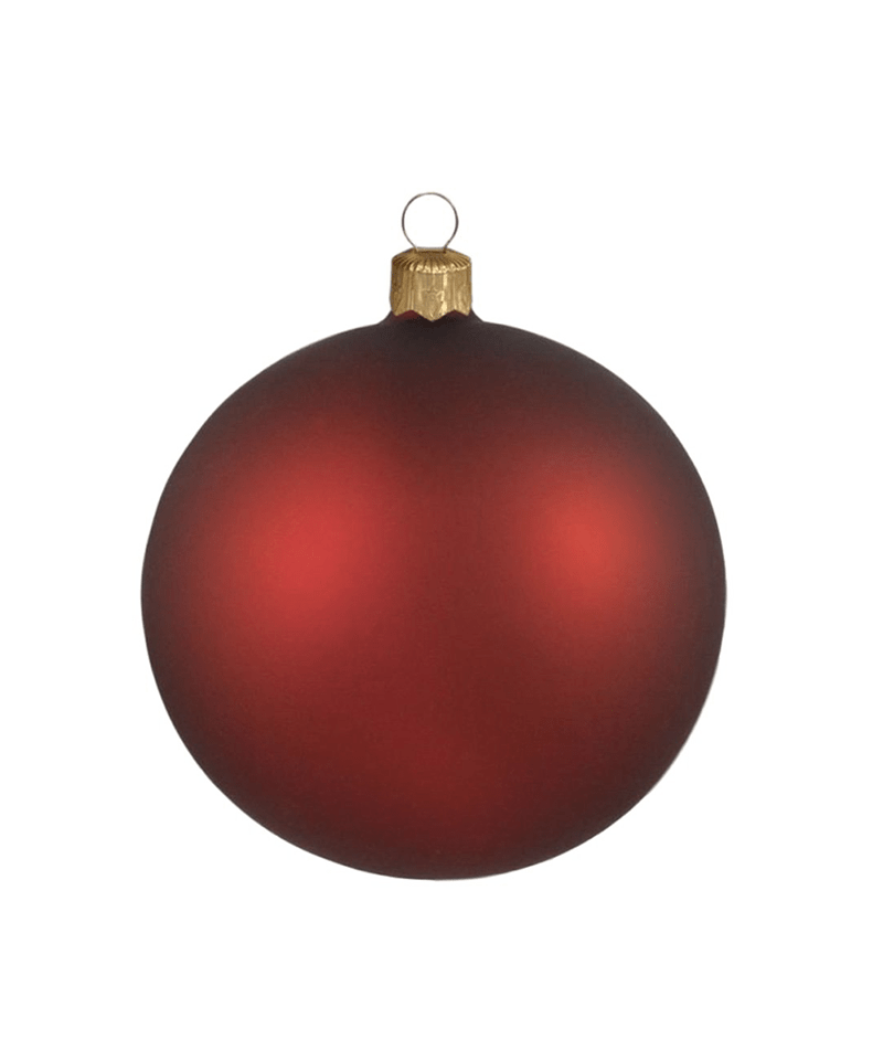 Burgundy Christmas Ornament
