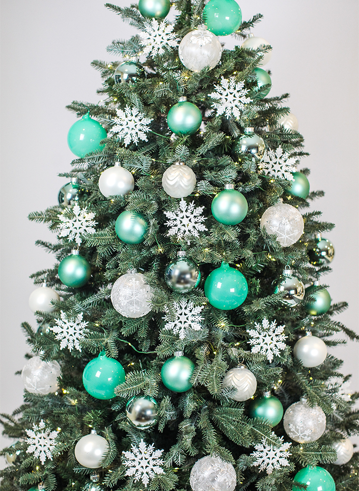 Teal Christmas Tree Design