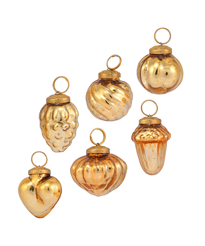 1 Inch Gold Ornaments