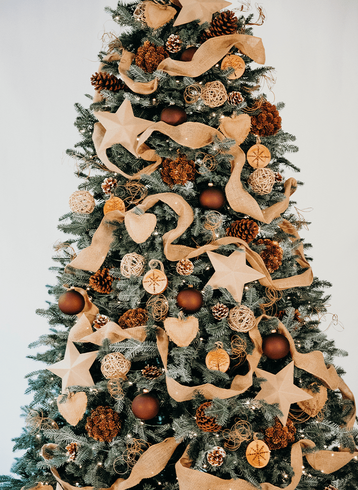 rustic Christmas tree design