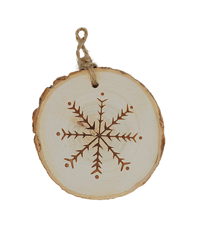 3 in Branch Slice Ornament / Snowflake