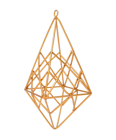 6 in Gold Geometric Ornament