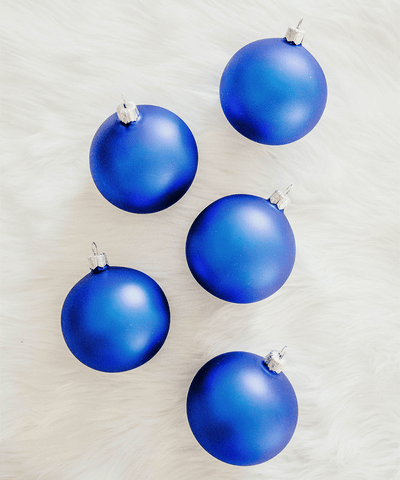 3 in Matte Blue Polish Bauble
