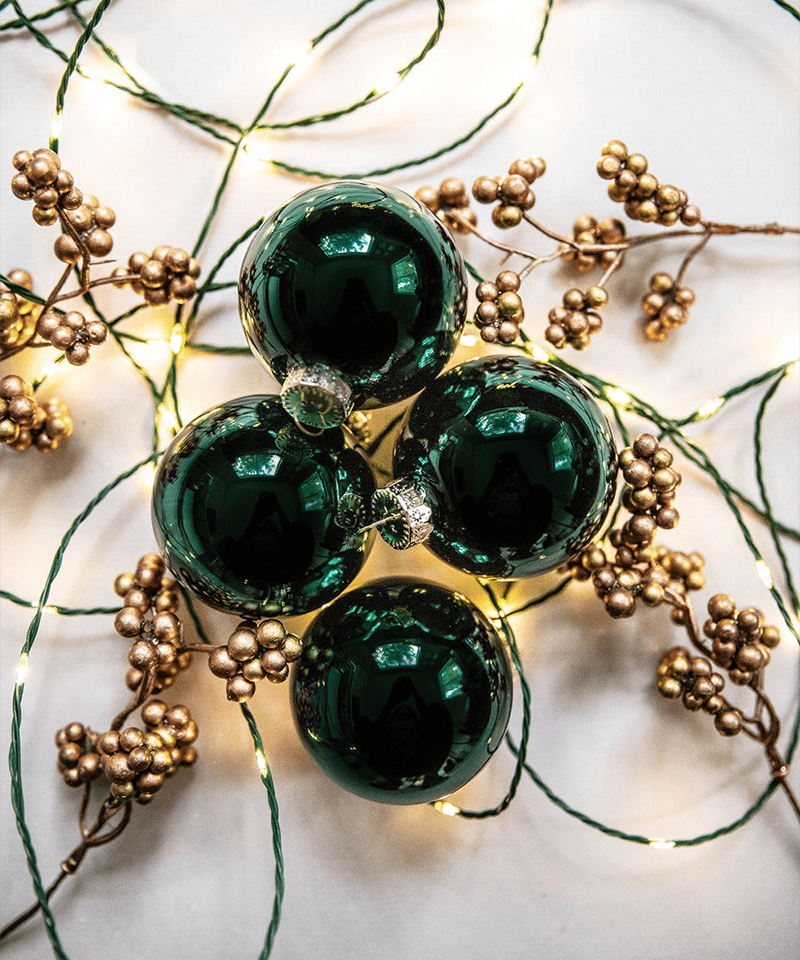 Dark Green Ornaments