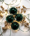 3 in Emerald Green Bauble