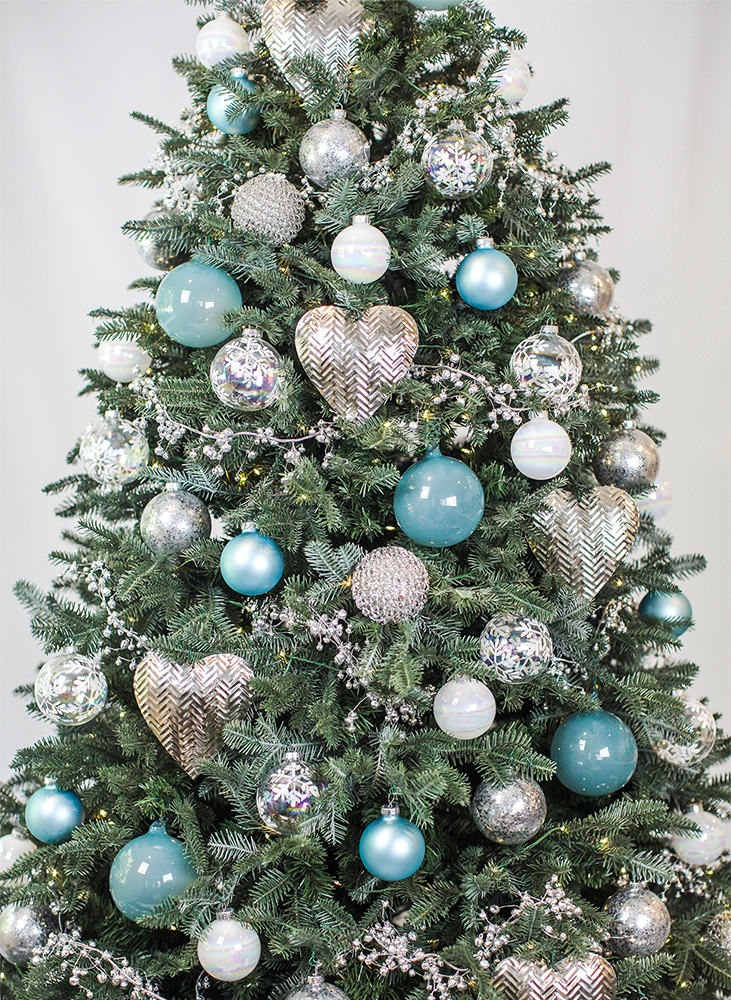 Blue Christmas Tree Design