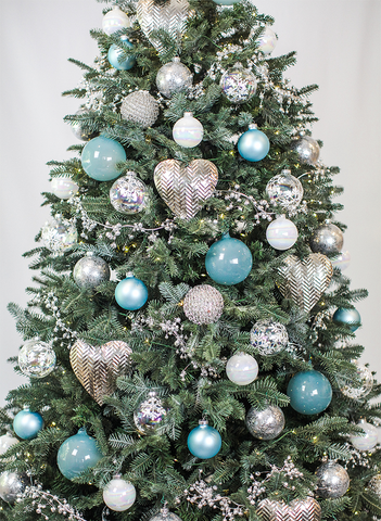 Cyan Blue Tree Set