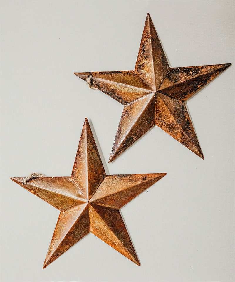 Copper Metal Star Ornaments
