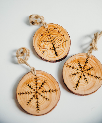 3 in Branch Slice Ornament / Tree