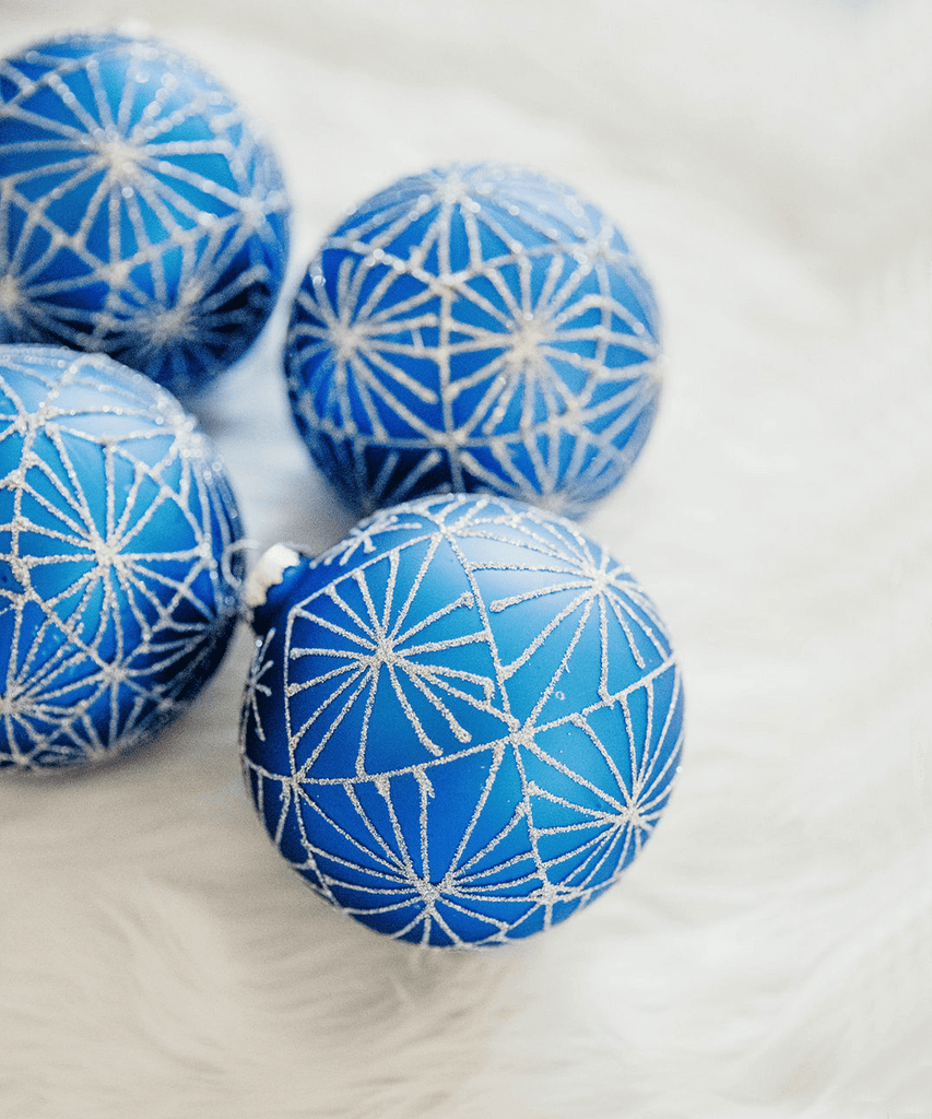 Frosted Cobalt Blue Ornaments